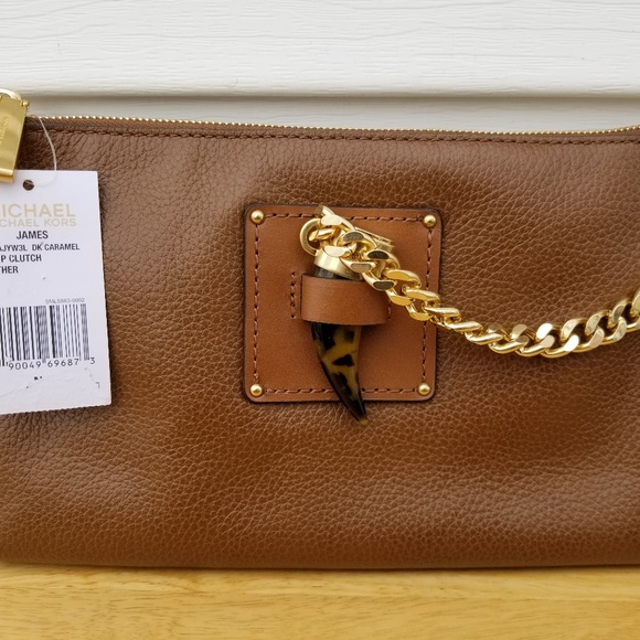 97d06aeba4df Michael Kors Bags | Leather James Large Zip Clutch | Poshmark